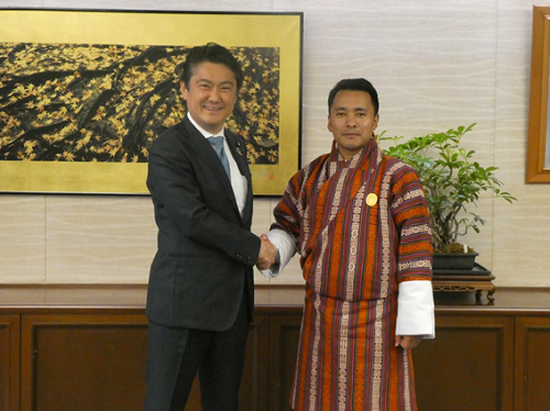 April 23, 2019 Justice Minister Received Courtesy Call from the Minister for Labor and Human Resources of Bhutan