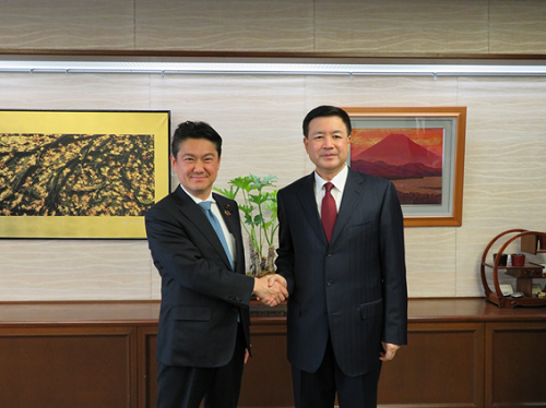 May 23, 2019 Justice Minister Received a Courtesy Call from Deputy Minister of Public Security of China